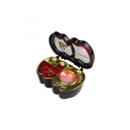 Pilli Müzik Kutusu Hediyelik Işıklı Minik Kalp Modeli