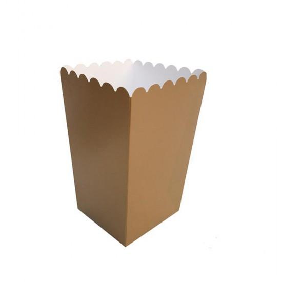 Popcorn Kutusu Karton Düz Renk (10 Adet)