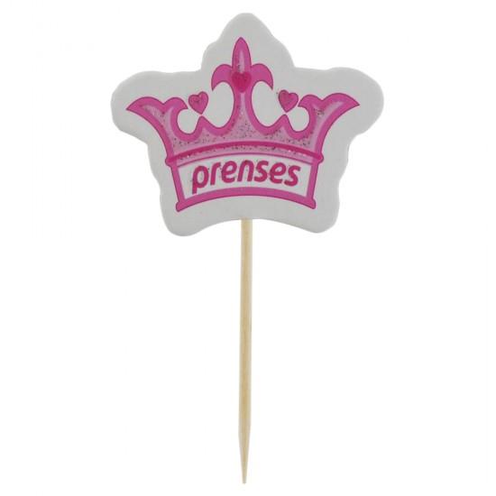 Prens / Prenses Kürdanlı Sticker (20 Adet)