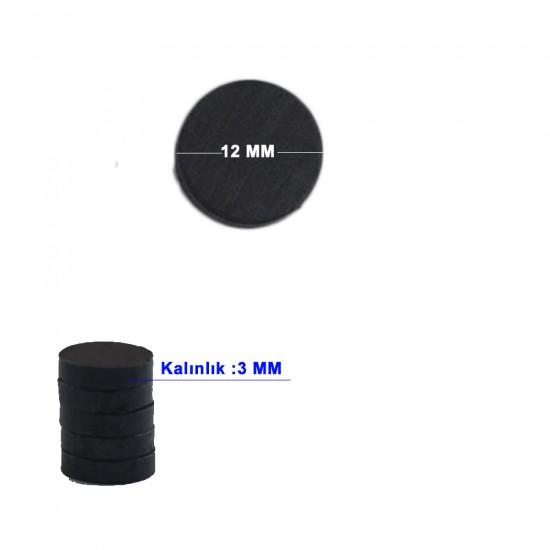 Mıknatıs Siyah Minik (50 Adet)