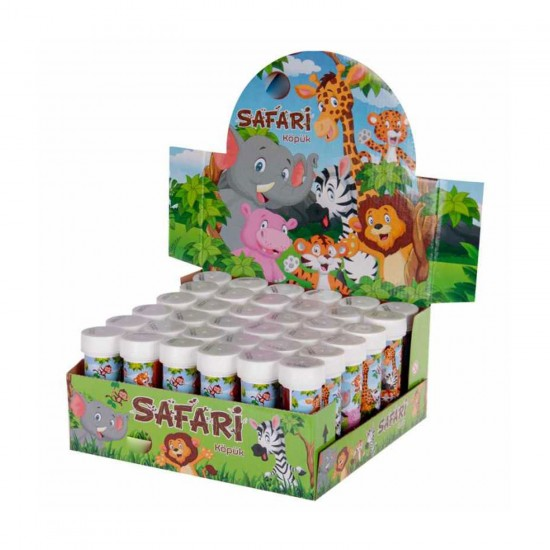 Safari Serisi Hayvanlar Temalı Köpüklü Üflemeli Baloncuk (8 Adet)