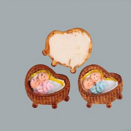Bebek İkiz Pusette Yatan (20 Adet)