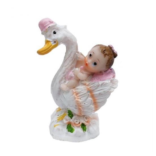 Bebek Şekeri Biblosu Bebek Leylek Üstünde (20 Adet)