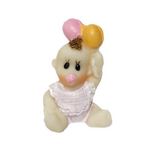 Bebek Şekeri Biblosu Bebek Önlüklü Ve Balonlu (20 Adet)