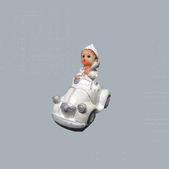 Sünnet Çocuğu Beyaz Arabalı (10 Adet)