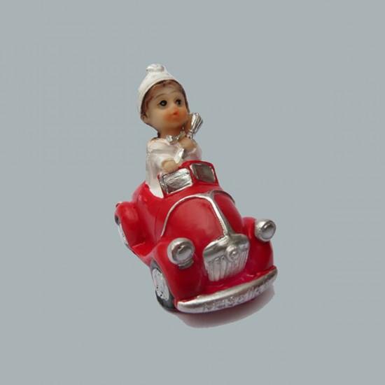 Sünnet Çocuğu Kırmızı Arabalı (10 Adet)