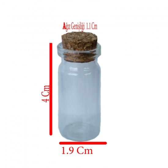 Şişe Cam Mantar Tıpalı Minik 6 Cc (50 Adet)