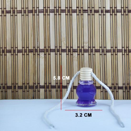 Cam Şişe Ahşap Kapaklı İpli Model 1 (20 Adet)