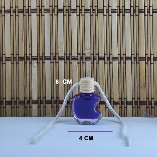 Cam Şişe Ahşap Kapaklı İpli Apple Modeli (14 Adet)