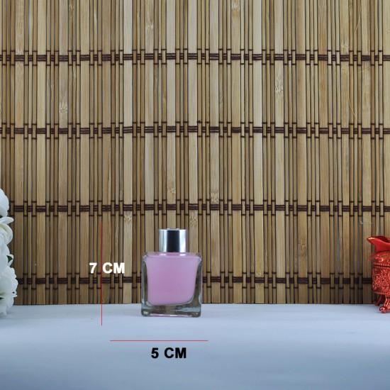 Kare Cam Şişe Oda Parfümü İçin 60 Cc (10 Adet)