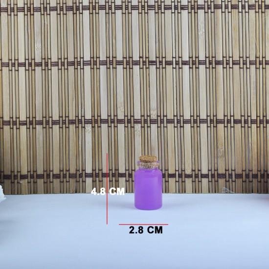 Şişe Cam Mantar Tıpalı Deney Tüpü Boğazlı Model 20 Cc (12 Adet)
