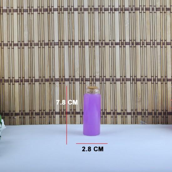 Şişe Cam Mantar Tıpalı Deney Tüpü Boğazlı Model 35 Cc (12 Adet)
