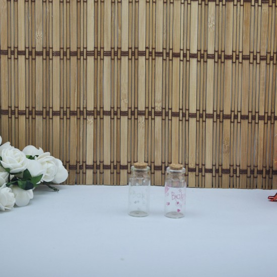 Şişe Cam Mantar Tıpalı Baby Yazılı Figürlü Model (50 Adet)