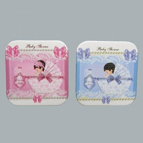 Sticker Bebek Karton Yeni Pusetli Baby Shower (50 Adet)