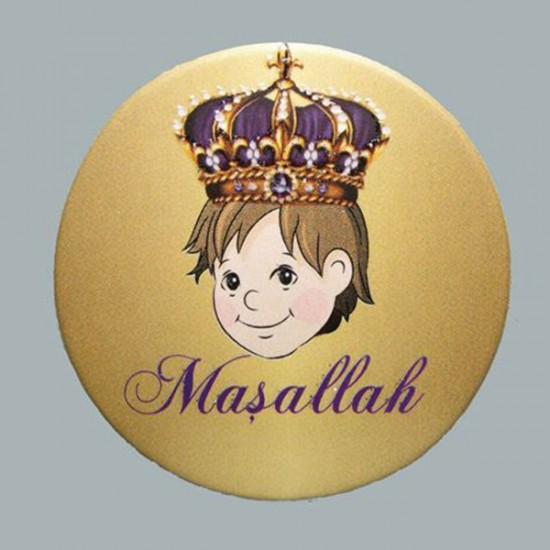 Sticker Karton Sünnet Çocuğu Kral Taçlı (50 Adet)