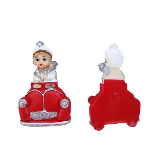 Sünnet Çocuğu Arabalı Kırmızı Yarım (20 Adet)