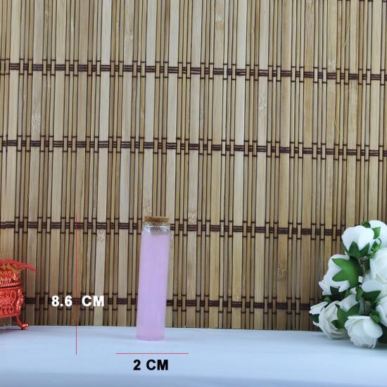 Şişe Cam Mantar Tıpalı Deney Tüpü Modeli (12 Adet)