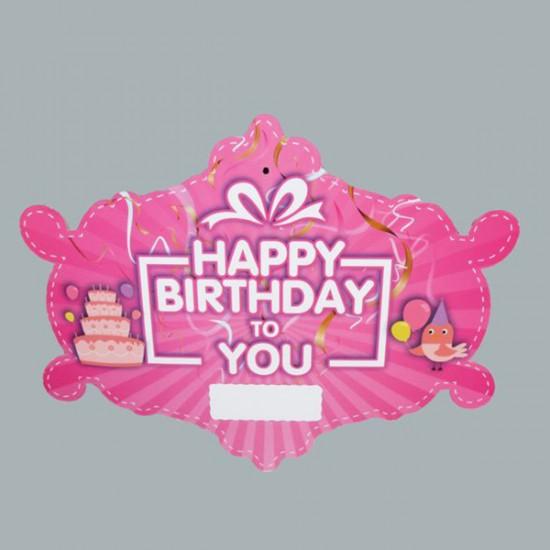 Karton Kapı Süsü  Happy Bırthday To You
