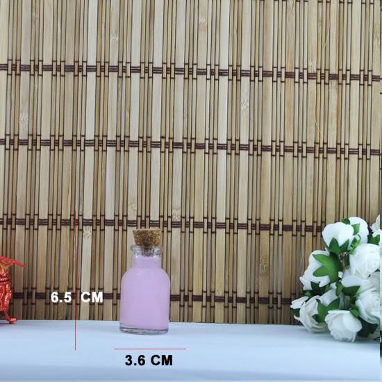Şişe Cam Mantar Tıpalı Anfora Modeli 33 Cc (50 Adet)