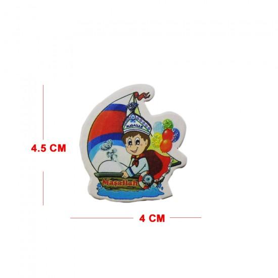 Sticker Sünnet Çocuğu Teknede Maşaallah Yazılı (50 Adet)