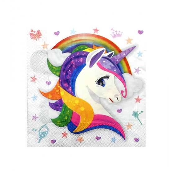 Unicorn Temalı Kağıt Peçete 33X33 Cm (16 Adet)