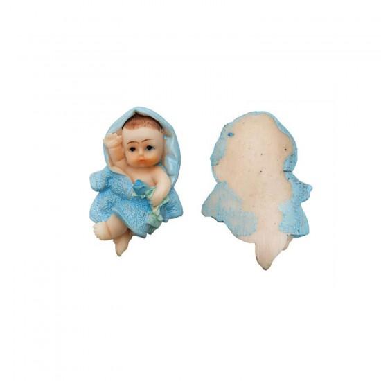 Bebek Şekeri Biblosu Bornozlu Çiçekli Magnet (20 Adet)
