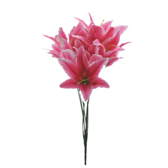 Yapay Çiçek Lilyum Modeli 9 Başlıklı 45 Cm (1 Demet)