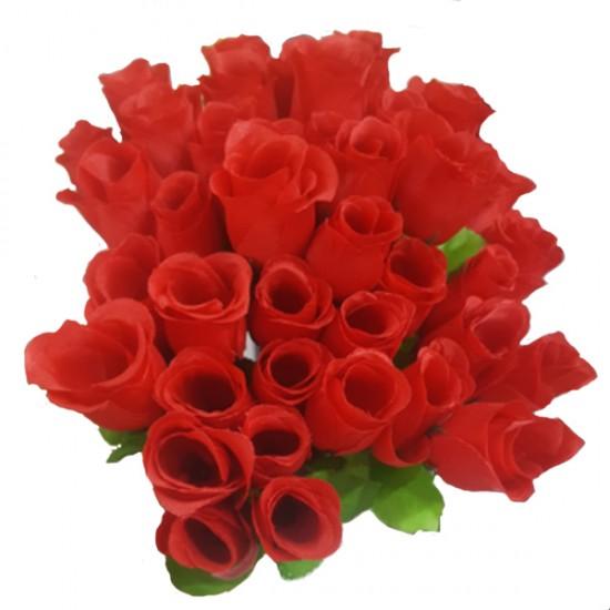 Yapay Çiçek Tekli Gül 20 Li  (1 Demet)