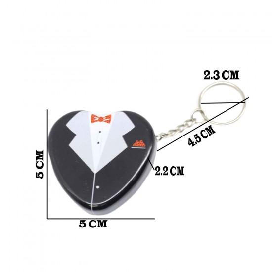 Teneke Anahtarlık Kutu Gelin Damat Modeli  (10 Adet)